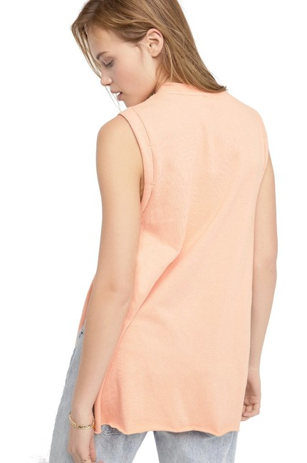 Free People Shimmering Beads Deep Slits Crew Neck Super Unique Dropped Armholes Tunic