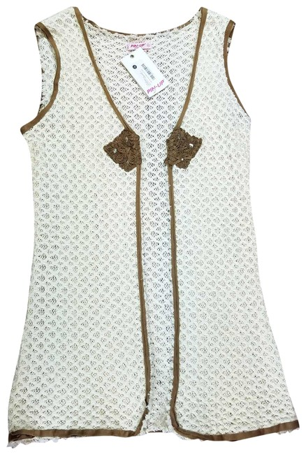 Preload https://img-static.tradesy.com/item/23331994/pin-up-stars-beige-and-brown-new-women-hand-knitted-vest-beach-cotton-suede-cover-upsarong-size-8-m-0-3-650-650.jpg