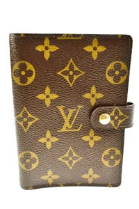 "Louis Vuitton ""LV"" Logo, Agenda/Folding Wallet (o)"
