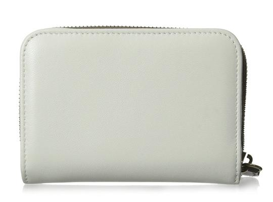 Nina Ricci Brown Ivory Lambskin Leather Colorblock Zip Around Wallet