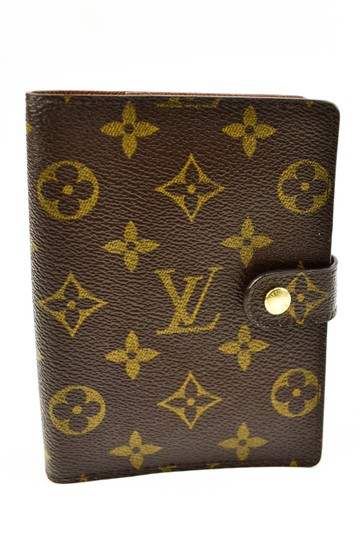 Preload https://img-static.tradesy.com/item/23332039/louis-vuitton-brown-lv-logo-agenda-folding-q-wallet-0-0-540-540.jpg