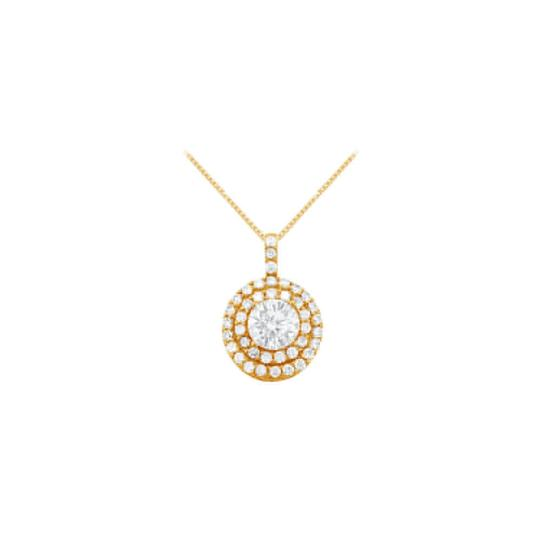 Preload https://img-static.tradesy.com/item/23332057/white-yellow-cubic-zirconia-halo-pendant-gold-vermeilsilver-250-ct-tgw-necklace-0-0-540-540.jpg