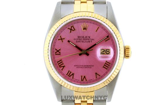 Rolex 36MM ROELX DATEJUST GOLD S/S WATCH WITH BOX & APPRAISAL