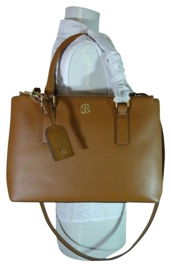 Preload https://item5.tradesy.com/images/tory-burch-robinson-tanbrown-mini-double-zip-brown-saffiano-leather-satchel-23332109-0-0.jpg?width=440&height=440