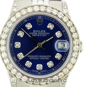 Rolex 2.4CT 31MM MIDSIZE ROLEX DATEJUST S/S WATCH WITH BOX & APPRAISAL