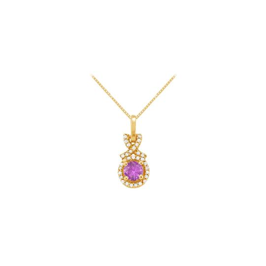 Preload https://item4.tradesy.com/images/purple-yellow-february-birthstone-amethyst-with-cz-halo-pendant-gold-vermeil-necklace-23332123-0-0.jpg?width=440&height=440