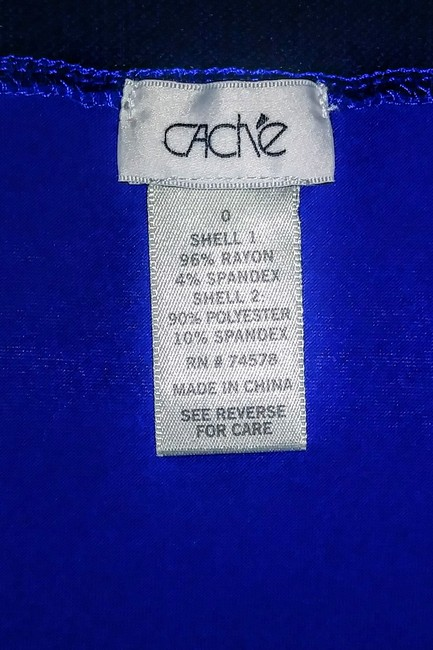 Royal blue and black accent Maxi Dress by Cache Maxi Spagetthi Strap Jersey