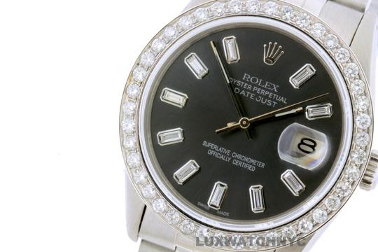 Rolex 2.2CT 36MM ROLEX DATEJUST S/S WATCH WITH BOX & APPRAISAL