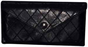 Chanel Vintage Chanel Black Classic Quilted CC Wallet