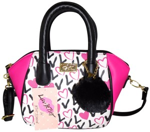 Betsey Johnson Satchel Fuchsia/ Cross Body Bag