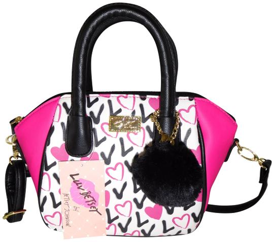 Preload https://item1.tradesy.com/images/betsey-johnson-luv-betsey-fuchsia-black-faux-leather-cross-body-bag-23332205-0-1.jpg?width=440&height=440