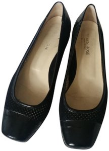 Taryn Rose Suede Patent Leather Ballet Black Flats