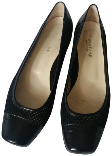Preload https://img-static.tradesy.com/item/23332219/taryn-rose-black-perforated-suede-ballet-wpatent-leather-cap-to-flats-size-us-10-regular-m-b-0-1-540-540.jpg