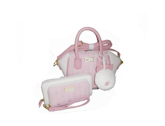 Preload https://img-static.tradesy.com/item/23332293/betsey-johnson-luv-betsey-wallet-cross-body-pink-bone-faux-leather-satchel-0-0-540-540.jpg