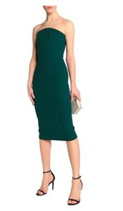Roland Mouret Strapless Fitted Shift Midi Dress
