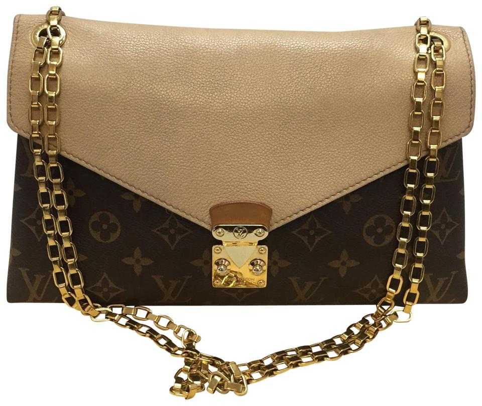 7f890c49f5d7 Louis Vuitton Pallas Chain Dune. Discontinued and Sold Out Brown Monogram Cross  Body Bag