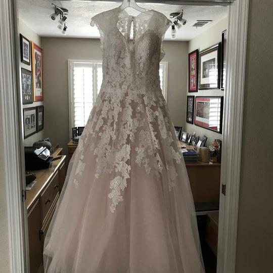 Preload https://img-static.tradesy.com/item/23332329/allure-bridals-ivory-and-champagne-majority-tool-with-lace-grown-never-worn-altered-formal-wedding-d-0-0-540-540.jpg