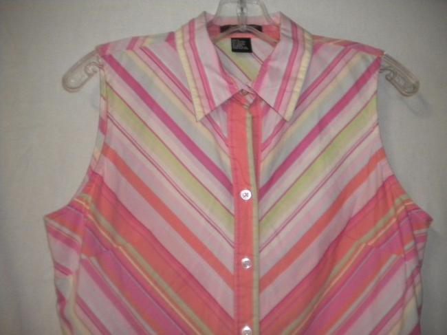 Autograph Camp Shirt Sleeveless Top Multi-Colored