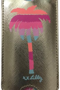 Lilly Pulitzer Gold Palm Tree Luggage Tag