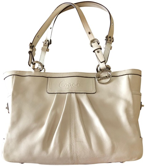 Preload https://item1.tradesy.com/images/coach-no-d0917-f13759-cream-cowhide-leather-satchel-23332395-0-1.jpg?width=440&height=440