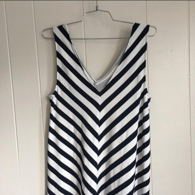 Blue, White Maxi Dress by Ann Taylor LOFT