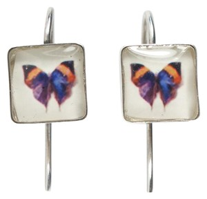 John Derian Butterfly Hook Earrings
