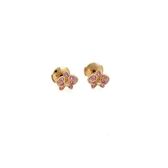 Preload https://item5.tradesy.com/images/cartier-caresse-d-orchidees-sapphire-diamond-18k-rose-gold-stud-cert-earrings-23332469-0-0.jpg?width=440&height=440