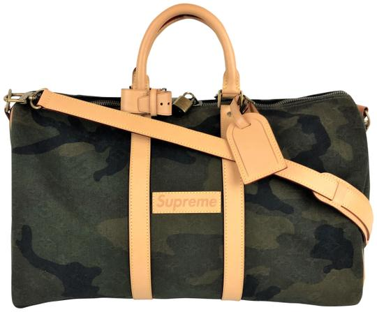 Preload https://item3.tradesy.com/images/louis-vuitton-x-supreme-monogram-camouflage-keepall-45-bandouliere-green-canvas-weekendtravel-bag-23332492-0-1.jpg?width=440&height=440