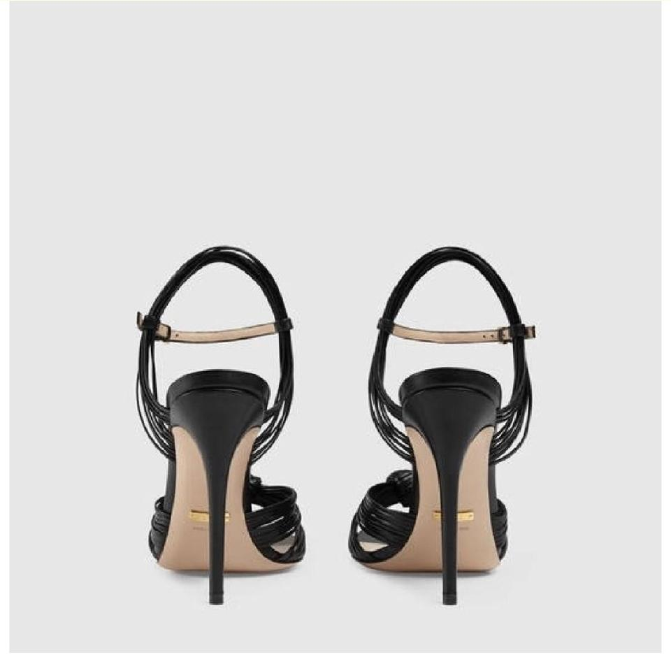 0a21ef120c8 Gucci Allie Leather Knot Sandals Size EU 41 (Approx. US 11) Regular ...
