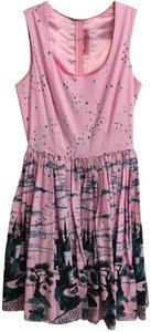 Pinup Couture short dress Pink Vintage-inspired Castle Disney Pockets Cotton on Tradesy