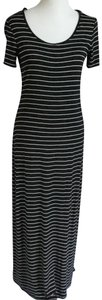 Black Maxi Dress by Calvin Klein Maxi Striped