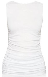 Theory Ruched Basic Top white