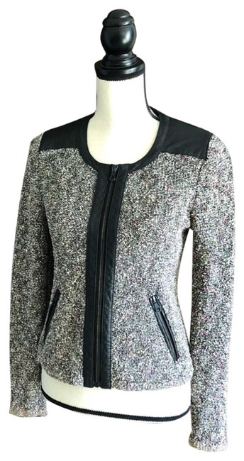 Preload https://item5.tradesy.com/images/rag-and-bone-grey-black-pink-tweed-leather-zip-blazer-size-6-s-23332614-0-1.jpg?width=400&height=650