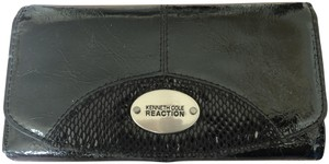 Kenneth Cole Reaction Kenneth Cole Black Vegan Cracked Leather Wallet
