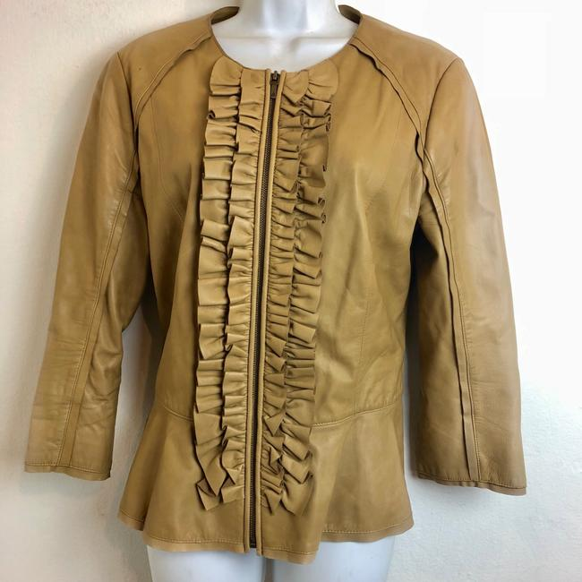 Tory Burch tan Leather Jacket