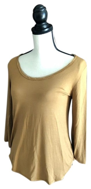 Preload https://item2.tradesy.com/images/bordeaux-gold-34-sleeve-tee-shirt-size-4-s-23332636-0-1.jpg?width=400&height=650