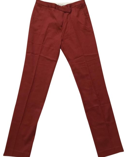 Preload https://item5.tradesy.com/images/t-by-alexander-wang-red-orange-ankle-slim-straight-leg-pants-size-4-s-27-23332639-0-1.jpg?width=400&height=650