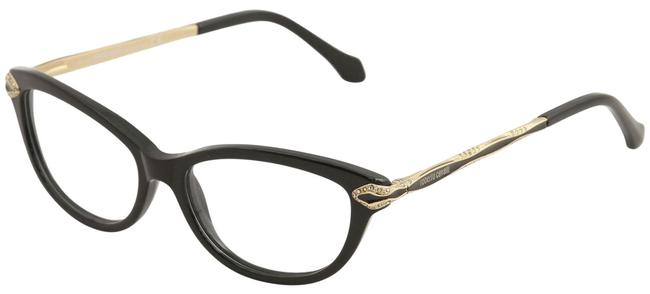 Roberto Cavalli 001 Black and Gold Eyeglasses Alkalurops 813 Black/Gold Optical Frame Roberto Cavalli 001 Black and Gold Eyeglasses Alkalurops 813 Black/Gold Optical Frame Image 1