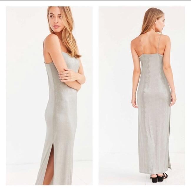 Silver, Gray Maxi Dress by Urban Outfitters