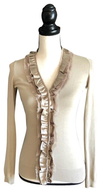 Preload https://item4.tradesy.com/images/t-tahari-ruffle-snap-cardigan-taupe-sweater-23332653-0-1.jpg?width=400&height=650