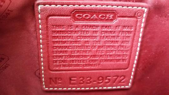 Coach Vintage Leather Tote in Red