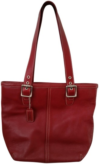 Preload https://img-static.tradesy.com/item/23332667/coach-hampton-shopper-handbag-red-leather-tote-0-1-540-540.jpg