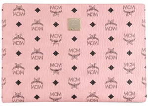 MCM Leather pink Clutch