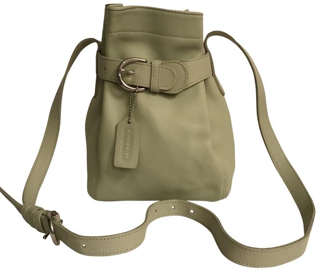 Coach Bucket Rare Color Buckle Cinch 4156 Green Silver Leather Cross Body Bag Coach Bucket Rare Color Buckle Cinch 4156 Green Silver Leather Cross Body Bag Image 1