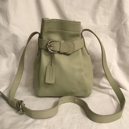 Preload https://item1.tradesy.com/images/coach-rare-color-bucket-cinch-4156-green-silver-leather-cross-body-bag-23332690-0-0.jpg?width=440&height=440