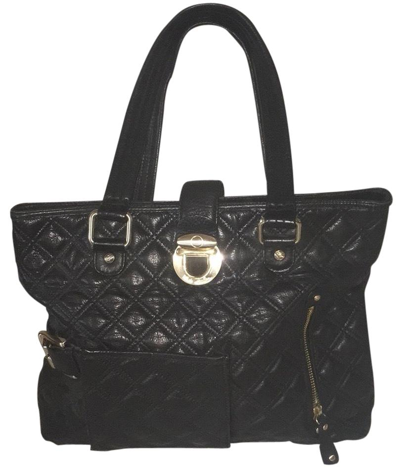 Kate Landry Collection Black Gold Cowhide Leather Tote - Tradesy 48eeecaae0ffe