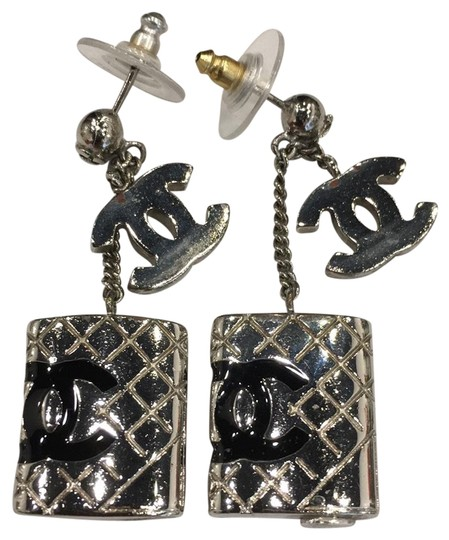 Preload https://item4.tradesy.com/images/chanel-silver-black-cambon-cc-pierced-5969-earrings-23332743-0-1.jpg?width=440&height=440