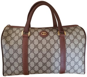 Gucci Gg Classic Monogram Vintage Satchel in Brown