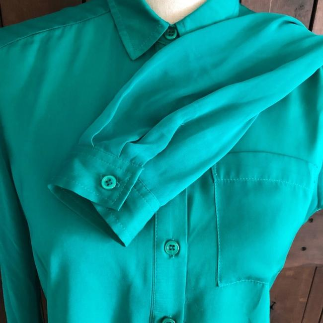 Free People Button Down Shirt Green