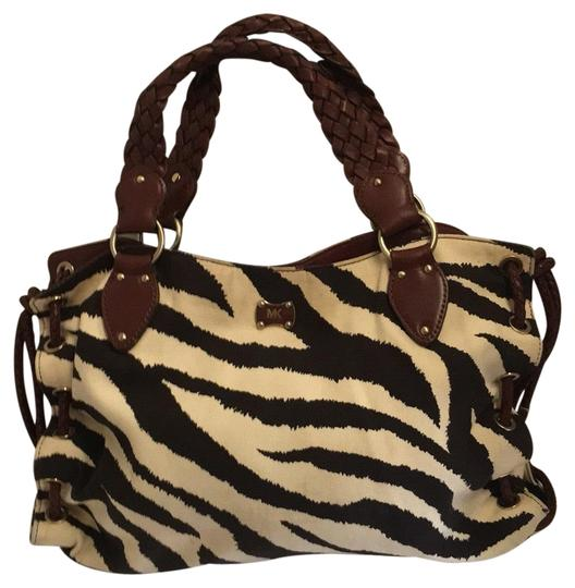 Preload https://img-static.tradesy.com/item/23332752/michael-michael-kors-zebra-print-tote-brown-canvas-and-leather-shoulder-bag-0-1-540-540.jpg